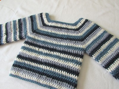 How to crochet a basic sweater. jumper - any size