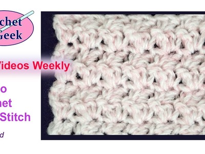 How to #Crochet a Seed Stitch Blanket - #CrochetGeek Left Hand