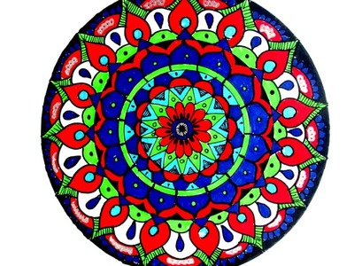 HOW TO DRAW MANDALA.MANDALA WEEK.DAY-1.TUTORIAL