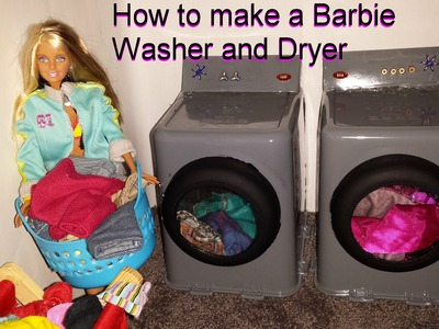 How to make a Barbie Washer and Dryer
