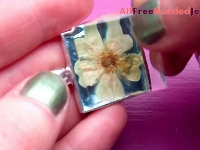 How to Make a Pressed Flower Pendant