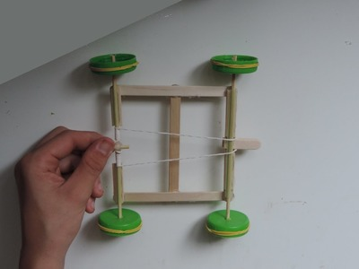 How To Make A Rubber Band Powered Car Out Of Popsicle Sticks