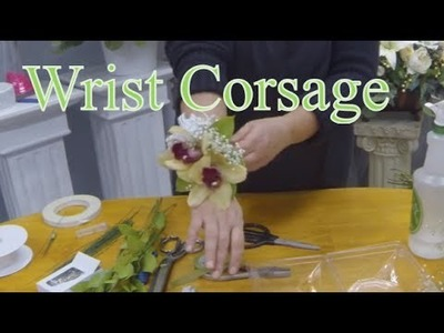 How to Make a Wrist Corsage with Orchids