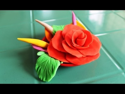 How to Make Play Doh Flower | Easy Rose Play-Doh