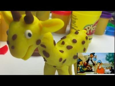 How to make play dough (play doh) giraffe while watching cartoons