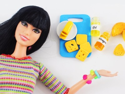 How to make realistic oil, vinegar, butter & cheese for your dolls - Doll Crafts