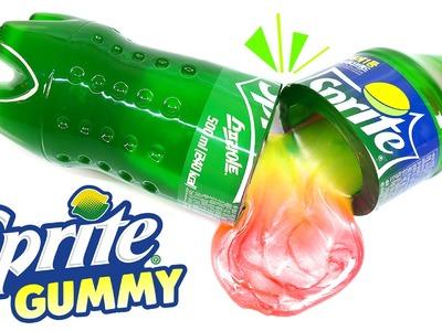 How to Make Sprite Soda Gummy Bottle - DIY Sprite Soda Jello Dessert!