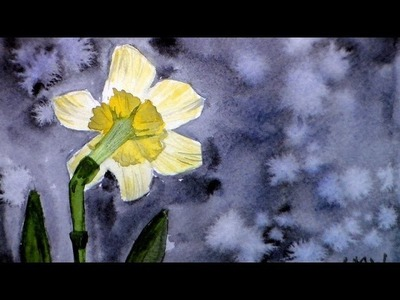 How To Paint a Back lit Daffodil in Watercolor Full Tutorial