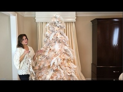 How to Put the Finishing Touches on Your White Flocked Christmas Tree (Part 7 of 8)
