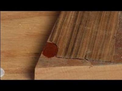 How to Repair Wood Veneer Furniture : How to Glue Wood Veneer Furniture Patch