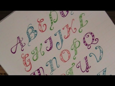 How to write in fancy letters with pattern - for beginners