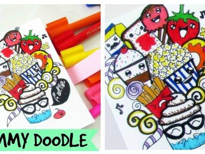 Lets Doodle.  Food doodle. Kawaii