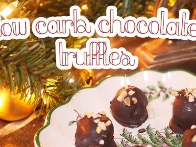 Low Carb Chocolate Truffles | & CHRISTMAS DECOR!