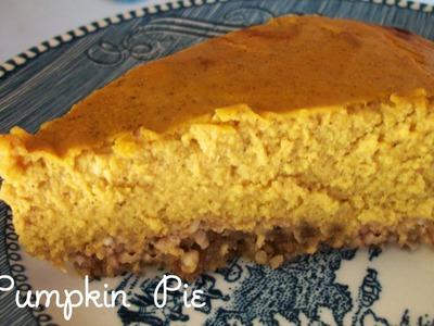 Low carb sugar free pumpkin pie