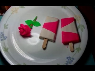 Making of play-doh rose and popsicles