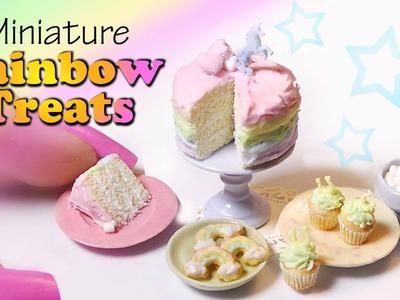 Miniature Food; RAINBOW UNICORN Treats - Polymer Clay Tutorial