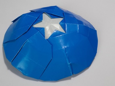 Origami Captain America's shield (teaser)
