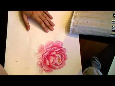 Peony watercolor painting with Marion Smith Live tonight!
