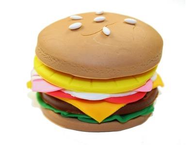 Play Doh Burger Fast Food Hamburger Krabby Patty