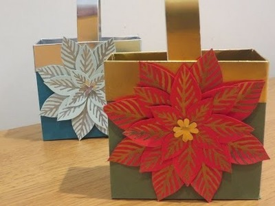 Poinsettia Gift Bag Tutorial using Reason for the Season by Stampin' Up