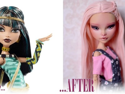 Repainting Cleo de Nile Monster High doll by UNNiEDOLLS