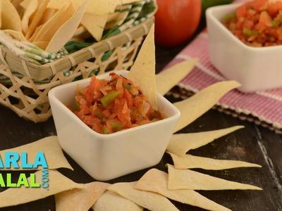 Salsa,  Mexican Salsa Recipe, Salsa Dip, Fresh Tomato Salsa by Tarla Dalal