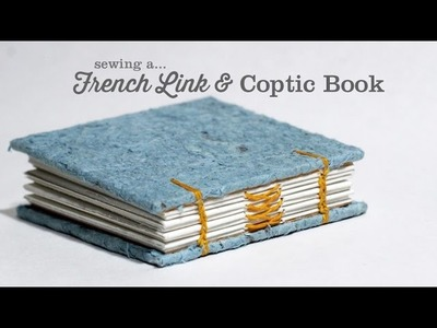 Sewing a French Link and Coptic Stitch Book