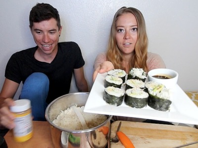 VEGAN SUSHI | RECIPE & MUKBANG