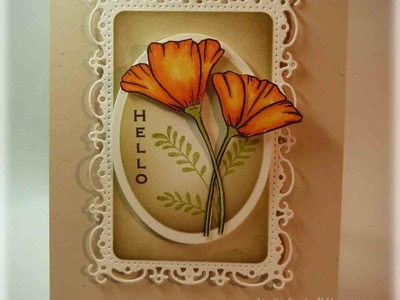 Vertical Greetings Poppy Card Tutorial