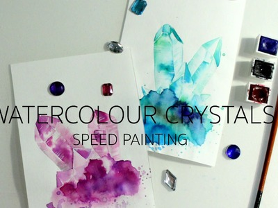 WATERCOLOR CRYSTALS Speed Painting | artbybee7 |