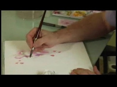 Watercolor Painting: An Orchid : Watercolor Painting an Orchid: Stem
