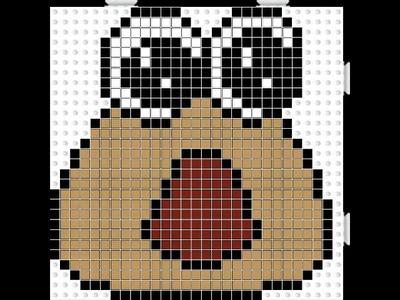 Baby pou hama beads #2