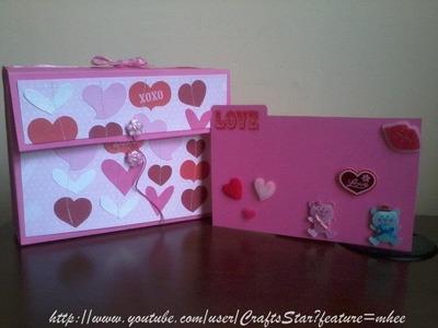 Card Box ( Scrapbook ) Original + Facil ( Manualidades Para San Valentin 3