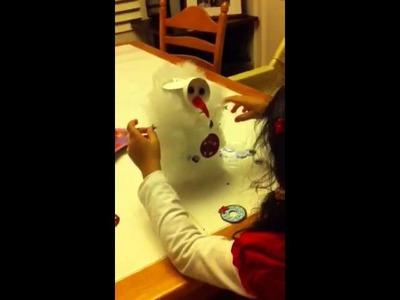 Craft: paper cup snowman