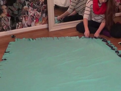 Creative Gift Ideas: DIY Fleece Tie Blanket! | MEGHAN HUGHES