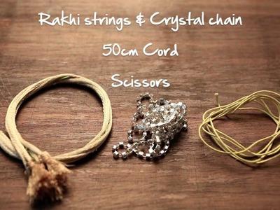 Crystal Rakhi DIY