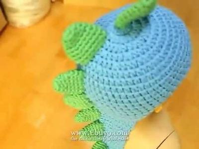 Dinosaur shape crochet cap