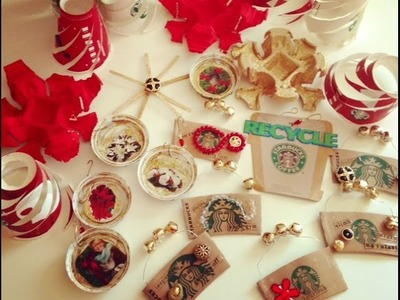 ❤️DIY CRAFT! Starbucks Christmas Ornaments!❤️