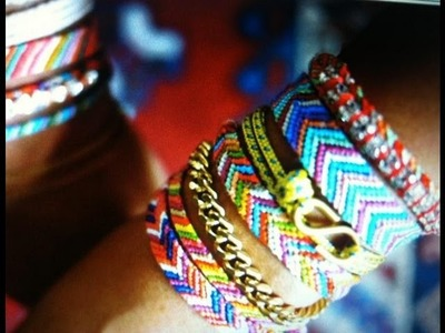 DIY:  Friendship Bracelet - Pulseira Hippie