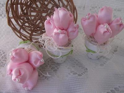 DIY: Mini Tulipas para lembrancinhas. baby gifts