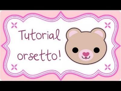 DIY Polymer clay: cute bear. orsetto !