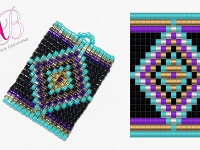 DIY Tutorial: Ciondolo Ethnic - Square Stitch in Italiano