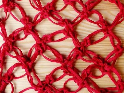 Lover's knot mesh crochet pattern