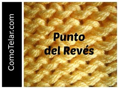 PUNTO REVES en Telar Circular - Loom Knit Purl Stitch in Spanish