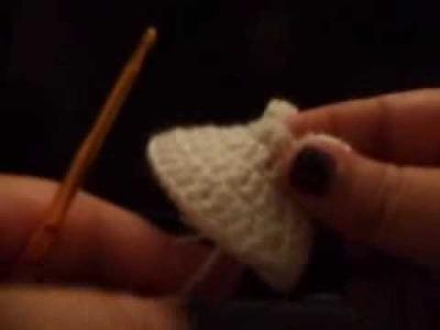 Vestido a crochet para baby shower