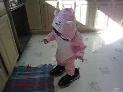 Baby's pink panther halloween costume