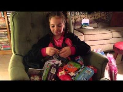 Christmas Morning 2012 Opening Gifts Cadence Age 9