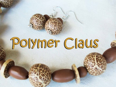 Collana con perle leopardate (leopardskin polymer clay beads)