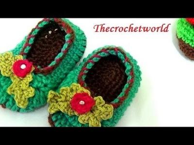 Crochet baby booties-1