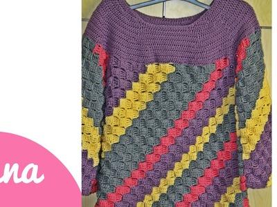 Crochet C2C tunic